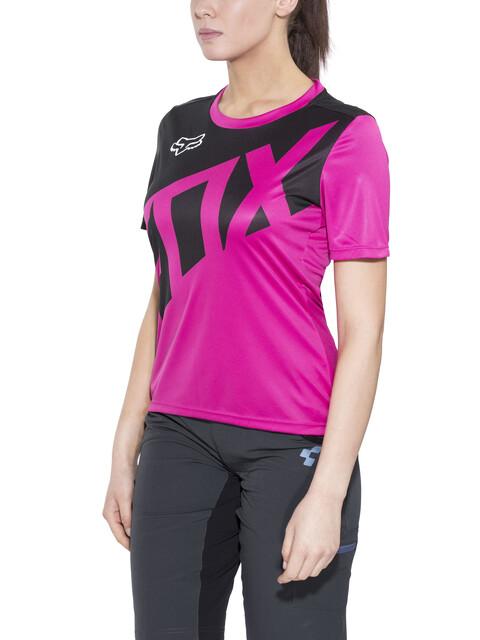 Fox Ripley Naiset Pyöräilypaita lyhythihainen , vaaleanpunainen/musta